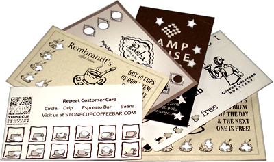 CoffeeConnect punch cards